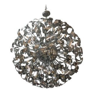 Large Sputnik Ribbon Chandelier With Crystal