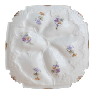 Square Porcelain Oyster Plate For Sale