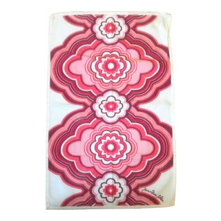 1990s Jonathan Adler Red Floral Pattern Placemat For Sale