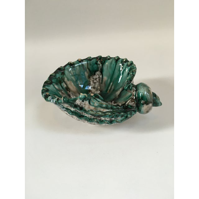Hollywood Regency Italian Vintage Terra Cotta Seashell Catchall Bowl For Sale - Image 3 of 8