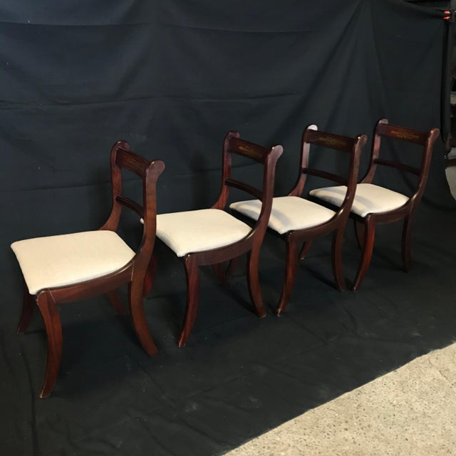 Early 19th Century Regency Dining Chairs- Set of 4 For Sale - Image 10 of 13