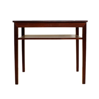 Danish Modern Rosewood Accent Table With Shelf