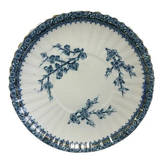Blue and White Antique Victorian Plate