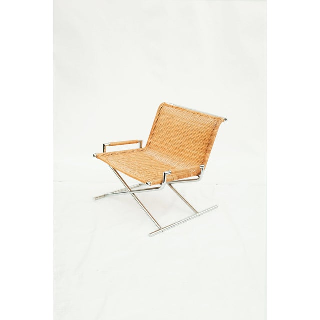 Ward Bennett Wicker Sled Lounge Chair for Brickel Associates For Sale - Image 10 of 10