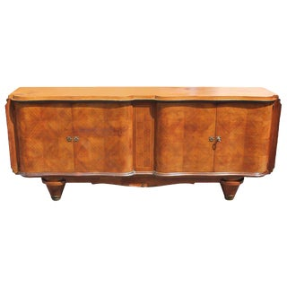 1940s Jules Leleu Style French Art Deco Rosewood Sideboard / Buffet For Sale