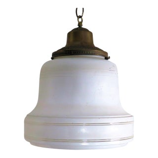 1930's Bell Shaped Industrial Chandelier