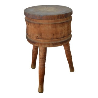 Early 20th Century Rustic Butcher Block For Sale