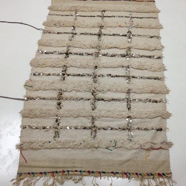 Moroccan Sequin Handira Wedding Blanket - Image 2 of 4