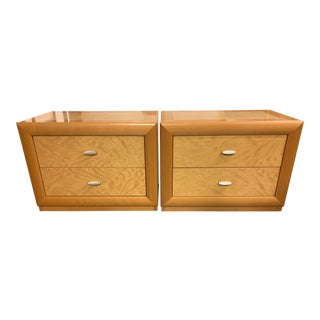 Italian Maple Nightstands -A Pair For Sale
