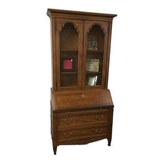 1980s Henredon Custom Folio Secretary Desk For Sale