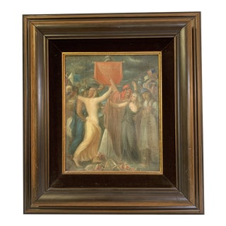 Early 19th Century Antique French Oil on Canvas Framed Painting For Sale