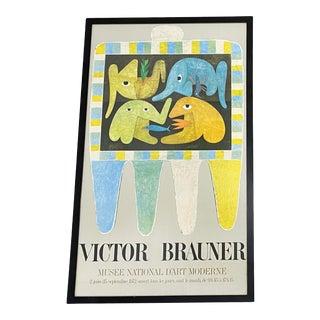 Victor Brauner Exhibition Poster Framed C.1972 For Sale