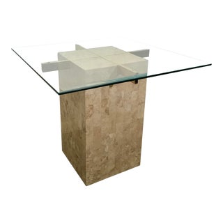 1970s Italian Artedi Travertine Side Table For Sale
