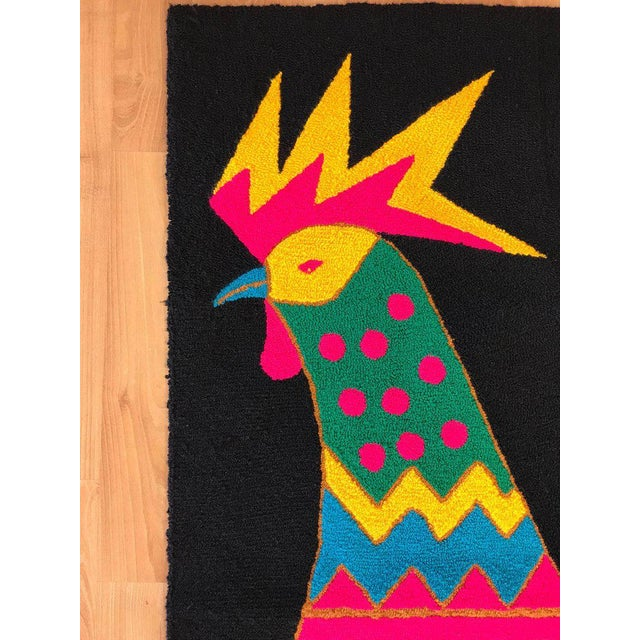 Mid-Century Colorful Rooster Tapestry by Luis Montiel For Sale - Image 4 of 11