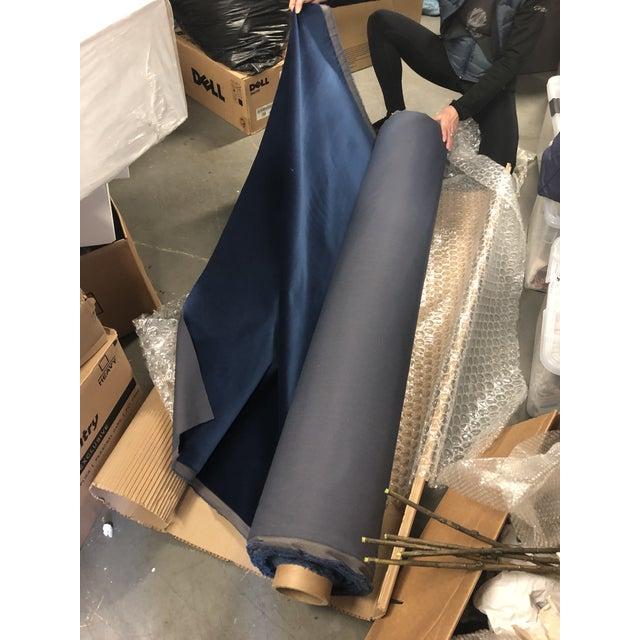 Holly Hunt Aqua Velvet III Neptune Fabric - 19 Yards For Sale - Image 12 of 12