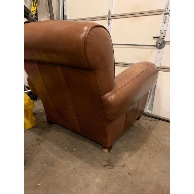 French Style Leather Cigar Club Chair Chairish