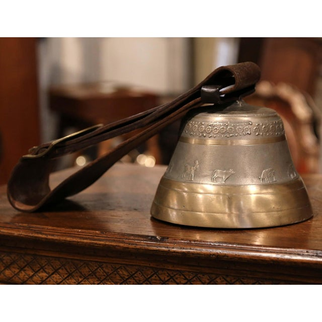 Antique German Bronze Cow Bell For Sale - Image 9 of 13