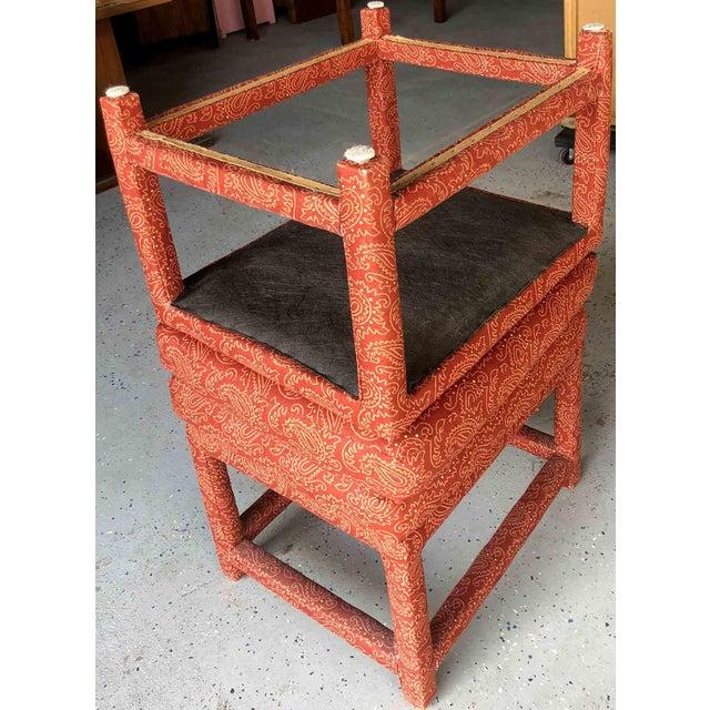 Textile 1970s Milo Baughman for Thayer Coggin Parsons Stools- a Pair For Sale - Image 7 of 9