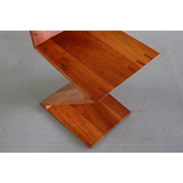 Inspired Vintage Chair Originally Designed by Gerrit Rietveld called the Zig-Zag Chair Rietveld is well known for his...