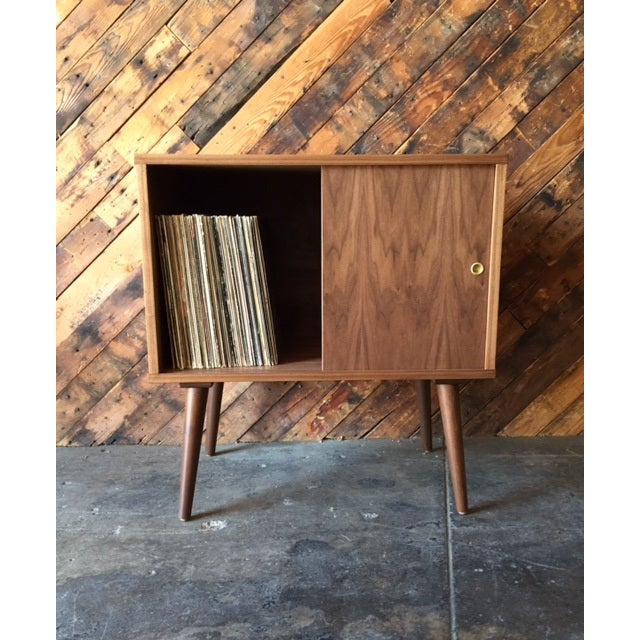 Danish Modern Mid-Century-Style Record Bar Cabinet For Sale - Image 3 of 5