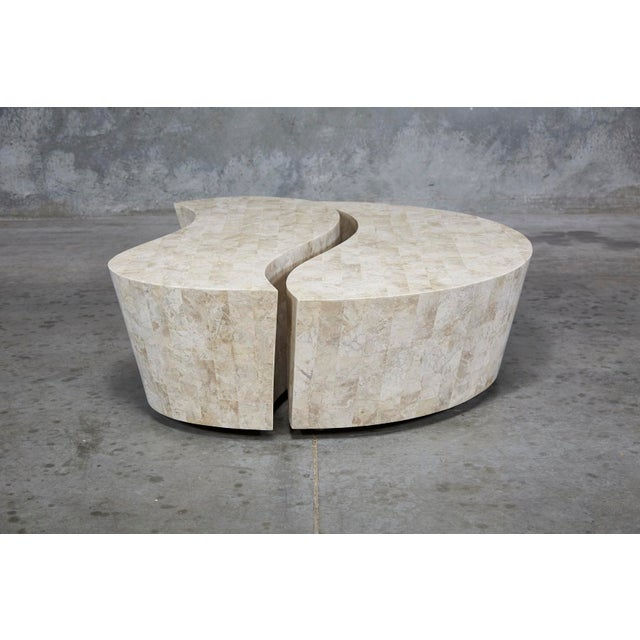 """1990s 1990s Contemporary Freeform Tessellated Stone Two Part """"Hampton"""" Coffee Table For Sale - Image 5 of 13"""