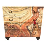 Image of Abstract Hand Painted Chest For Sale