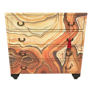 Abstract Hand Painted Chest For Sale