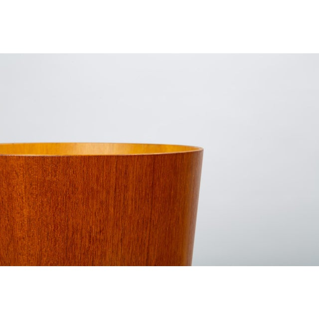 Wood Rainbow Wood Products Teak Wastebasket by Martin Åberg For Sale - Image 7 of 10