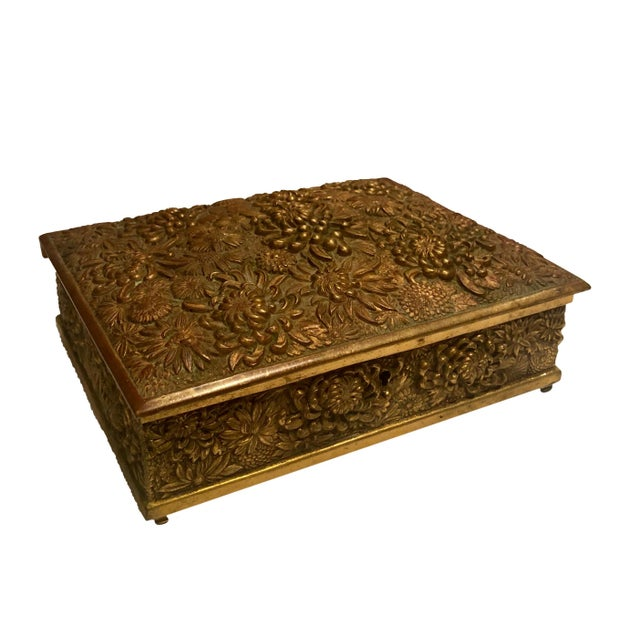 19th Century Antique Brass Box Made in France For Sale - Image 5 of 10