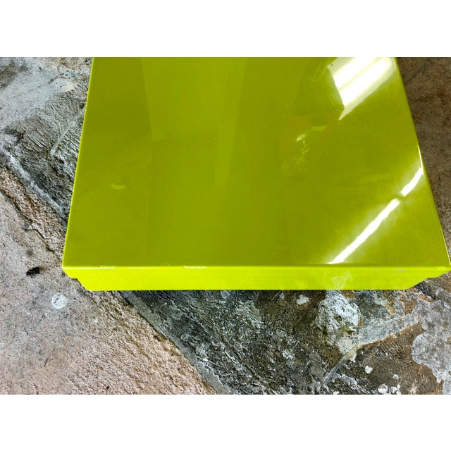 Modern Neon Green Rolling C Table For Sale In Charleston - Image 6 of 9