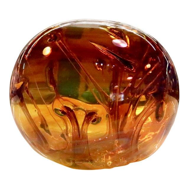 Peter Bramhall Vintage Art Glass Ball For Sale - Image 10 of 10