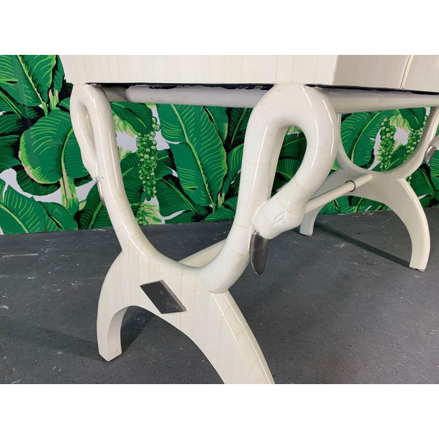 Sculptural Swan Head Desk in Tessellated Bone For Sale - Image 4 of 8