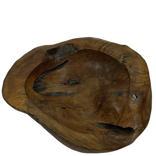 Organic Modern Large Teak Bowl 1 For Sale
