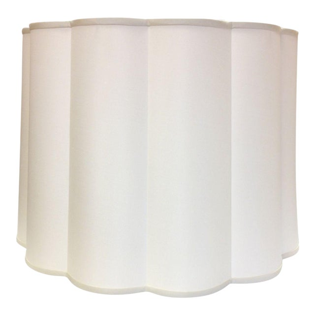 Two Barbara Barry Simple Scallop Pendant Fixtures For Sale
