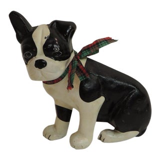 Vintage Iron Painted Dog Door Stopper
