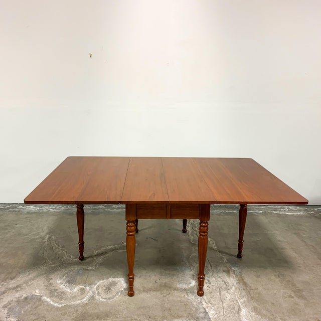 Traditional 1950s Amana Furniture Walnut Drop Leaf Dining Set - 7 Pieces For Sale - Image 3 of 9