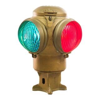 Vintage Adlake Co. Railroad Switch Signal Lantern