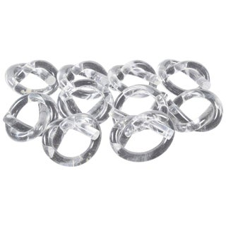 Ten Dorothy Thorpe Lucite Napkin Rings in Pretzel Shape For Sale