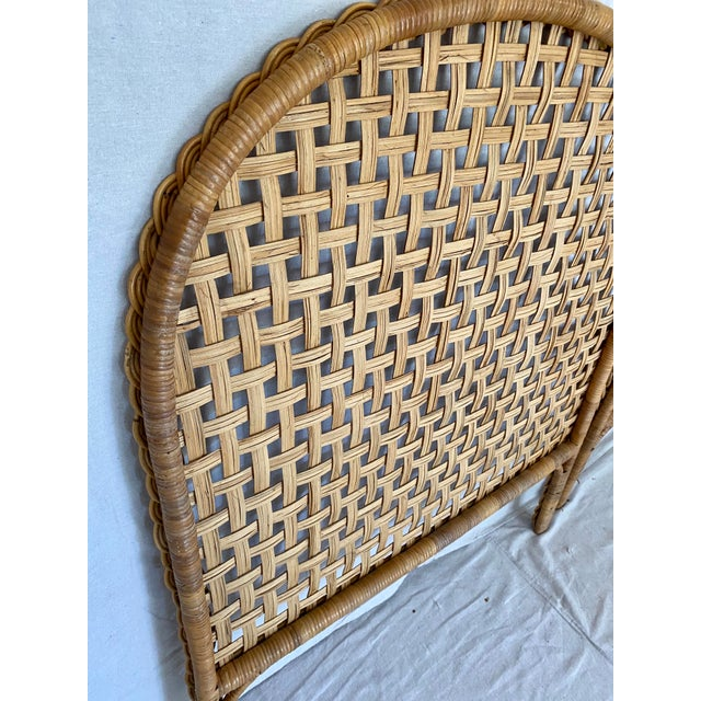 Vintage Woven Braided Rattan Headboards- a Pair For Sale - Image 12 of 13