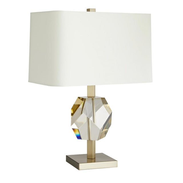 Arteriors Modern Geometric Champagne Crystal Table Lamp For Sale In Atlanta - Image 6 of 6