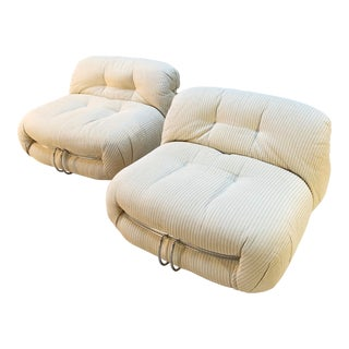 Afra & Tobia Scarpa Soriana Lounge Chairs for Cassina Italy 1970s - a Pair For Sale