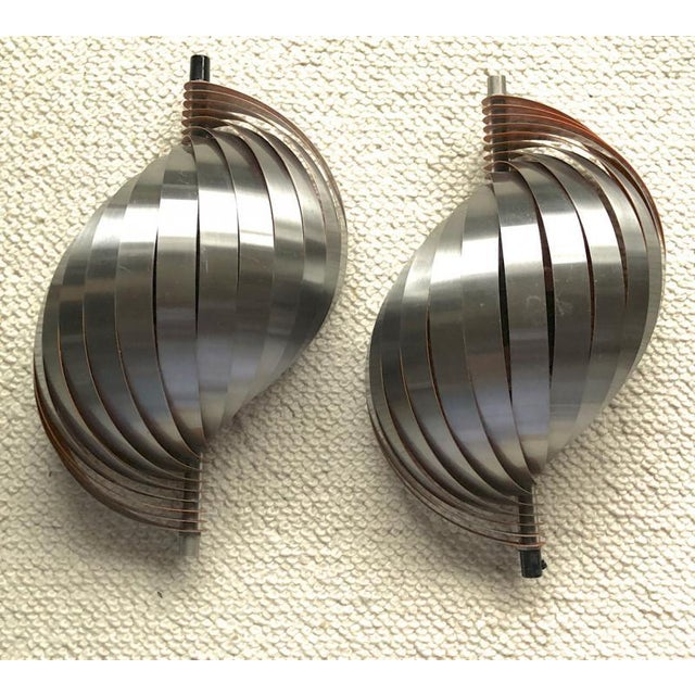 Modern Henri Mathieu Pair of Kinetic Sconces For Sale - Image 3 of 6