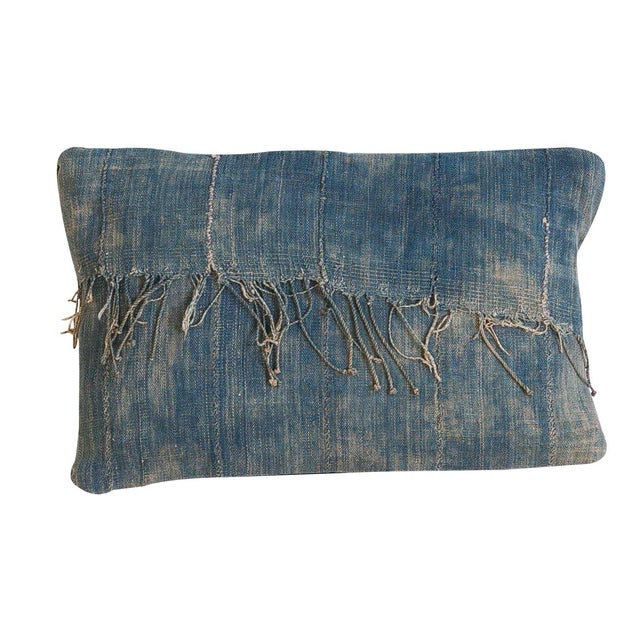 African Indigo Handmade Pillow - Image 1 of 4