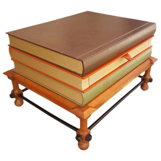 John Dickinson Stacked Books End Table For Sale