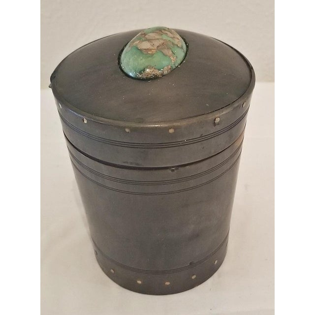 PRESENTING A BEAUTIFUL AND EXTREMELY RARE 18th Century Scottish Horn and Polished Stone Tea Caddy. This is a piece of...