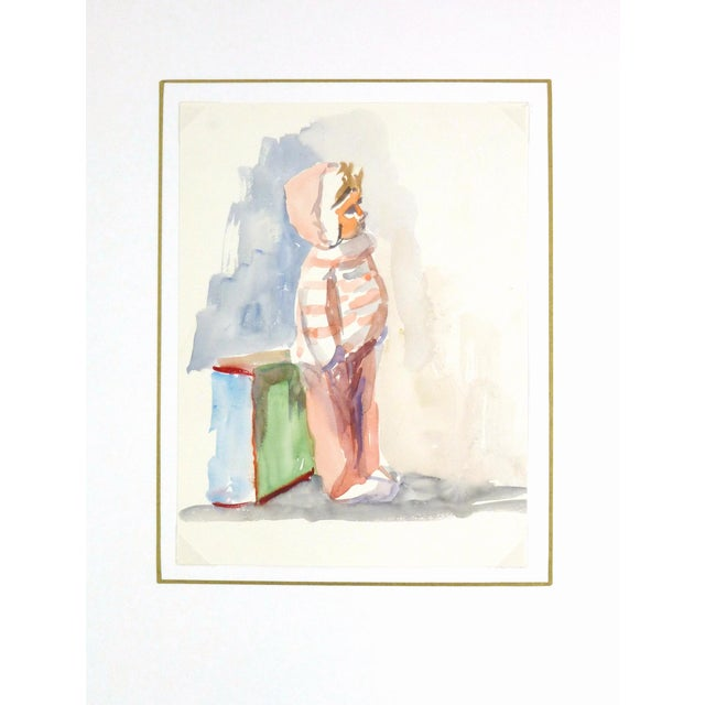 Vintage French Doll Watercolor Painting - Image 3 of 3