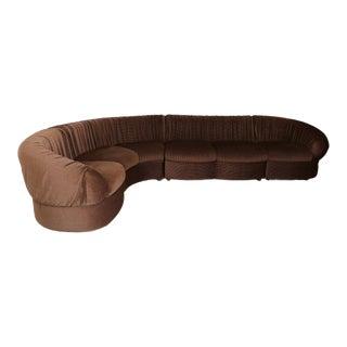 70's Modular Corner Sofa With Armchair. For Sale