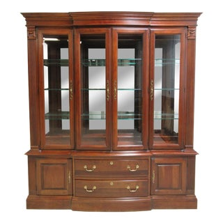 Pennsylvania House Chippendale Dining Room Breakfront Hutch China Cabinet For Sale