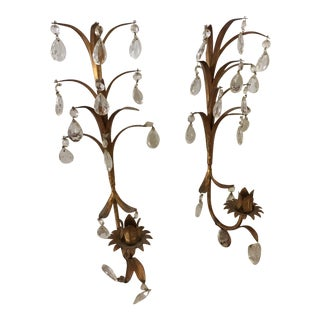 Italian Wall Sconces, Pair