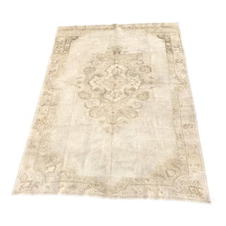 "Antique Turkish Oushak Runner - 7'3"" x 10'6"""